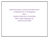 edTPA Elementary Literacy Complete Task 2 *2021 Kindergarten