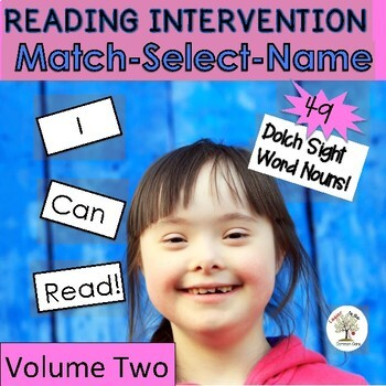 Dolch Nouns V2-READING INTERVENTION (Down Syndrome, special ed. & more)