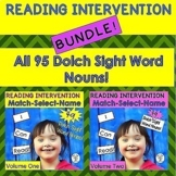 BUNDLE! 95 Dolch Nouns READING INTERVENTION (Down Syndrome