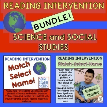 BUNDLE! Science/Social Stud. Reading Intervention (Down Syndrome, autism & more)