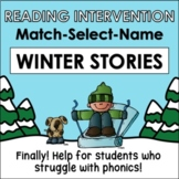 Winter, Reading Intervention, MATCH-SELECT-NAME (Down Synd