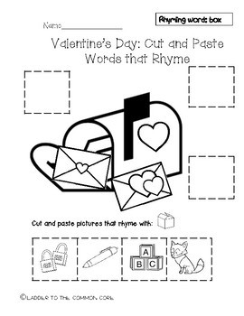 Valentine's Day RHYME CUT AND PASTE