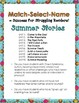 Summer School Reading Intervention MATCH-SELECT-NAME Down Syndrome, Sp.Ed