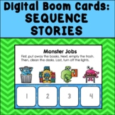 Sequence Stories DIGITAL BOOM CARDS (Reading, Speech Therapy, Special Education)