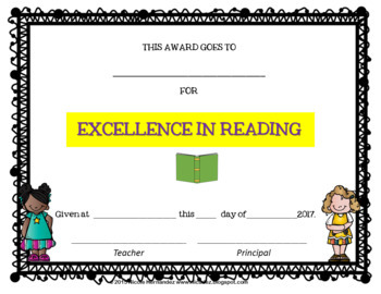 End of Year Certificates - First Grade