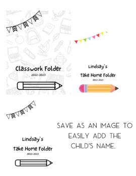 editable Folder Covers