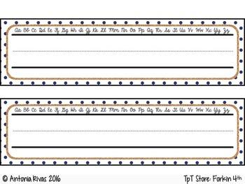 editable Nautical NameTags / Name Plates