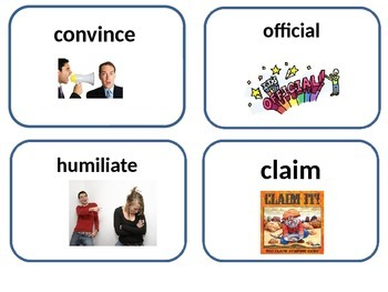 editable Tops and Bottoms amazing words and vocabulary word cards