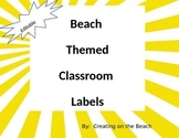 editable beach themed classroom labels