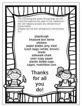 editable classroom wish list