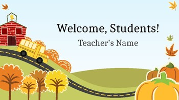 editable first day of the school year presentation
