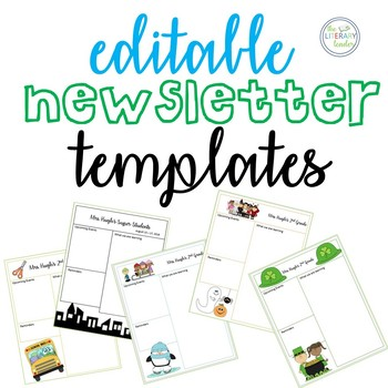 editable newsletter template back to school