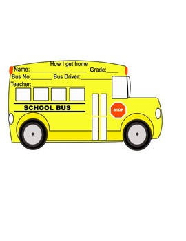 editable school bus tags