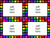 editable task cards and labels_rainbow apple theme