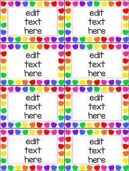 editable task cards and labels_rainbow apple theme