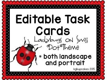 editable task cards_ladybugs on swiss dot theme plus bonus