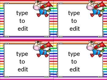 editable task cards_unicorn theme
