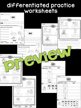 ee Phonogram Book & Poster Pack with Phonics Practice