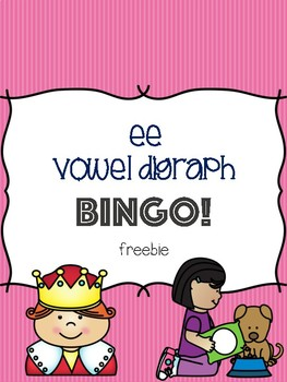 ee Vowel Digraph Bingo Freebie! [5 playing cards]