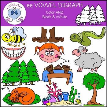 ee Vowel Digraph Clip Art