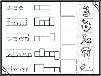 ee Vowel Digraph Cut and Paste