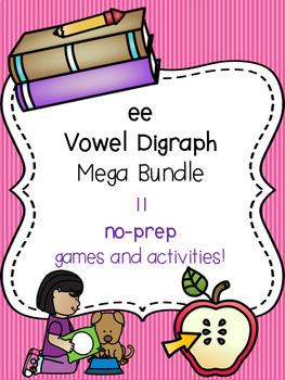 ee Vowel Digraph Mega Bundle! [11 no-prep games and activities]