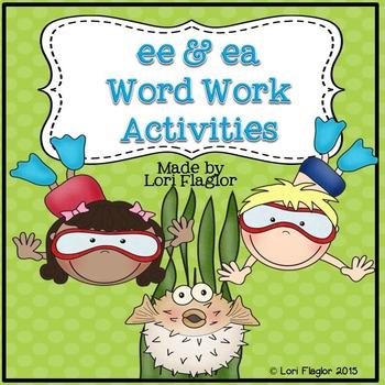 ee and ea Word Work Activites