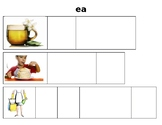 ee and ea long vowel word mats for centers
