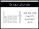 ee and ea word work