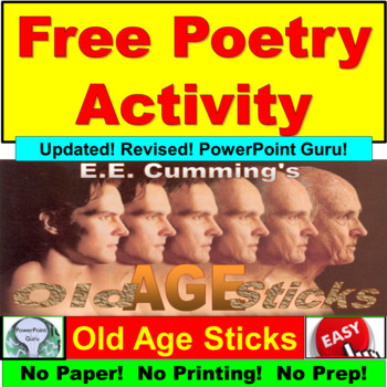 Free Poetry Activity: Old Age Sticks by ee cummings