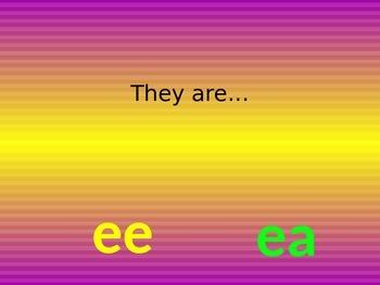 ee ea alternate spelling of the same sound