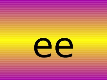 ee ea alternate spelling of the same sound