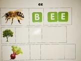 ee, ea, ay, ai, oa long vowel word mats for centers
