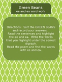 ee ea digraphs green beans