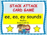 """ee, ea, ey sounds """"Stack Attack"""" card game"""