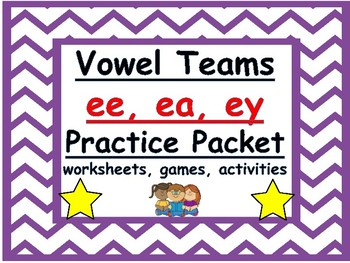 ee, ea, ey vowel teams