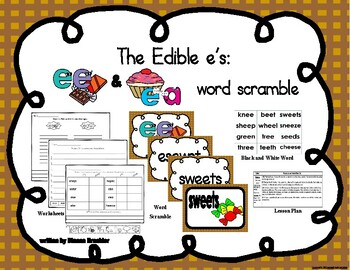 ee ea word scramble