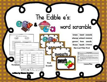 ee ea word scramble