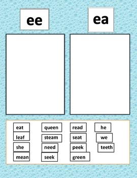 ee ea word sort