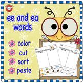 ee or ea cut and paste worksheet