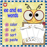 ee or ea cut and paste worksheet