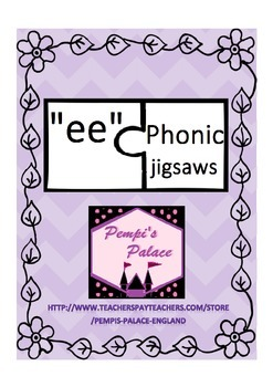 ee phonic digraph jigsaw puzzles