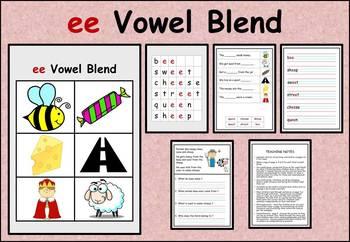 ee vowel blend work packet