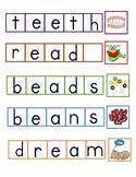 ee/ea Word Building Eggs