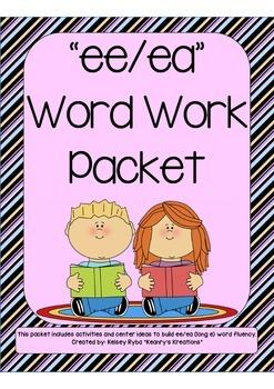 ee/ea Word Work Packet