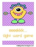 eeeekk...sight word game