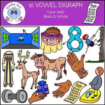 ei Vowel Digraph Clip Art