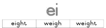 """ei"" words and sentences"