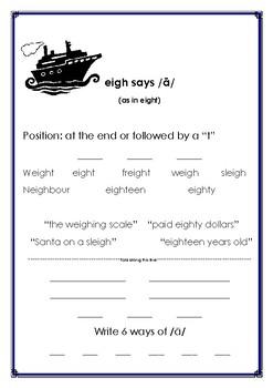 eigh says /long e/