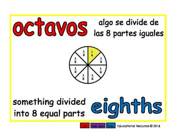 eighths/octavos meas 1-way blue/rojo